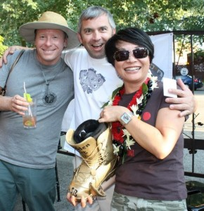 EJK Accounting is proud of EJ Kim for winning the Golden Boot Award at tSB's annual Luau.